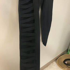 Urban outfitters black cut out leggings size M